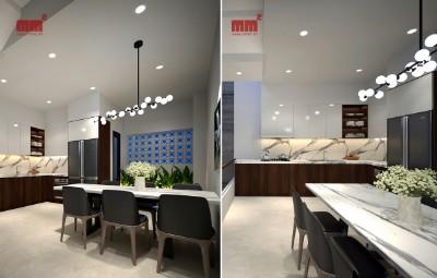 NHÀ PHỐ- 3 tầng mê lệch, mặt tiền 5m, bếp + ăn trên tầng lửng độc đáo