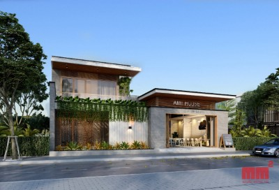 NHÀ Ở KẾT HỢP CAFE AMI HOUSE- 2 tầng mặt tiền 15m