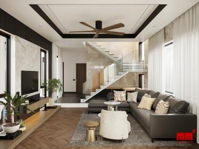 LÊ THƯỜNG HOUSE, biệt thự phố ánh sáng chan hòa không gian trong nhà - EN