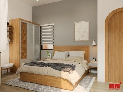 TUẤN HOUSE theo phong cách đương đại, nội thất hoài cổ mộc mạc