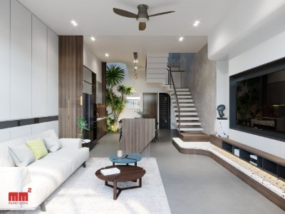 NHÂN HOUSE, phong cách hiện đại, mặt tiền 5m