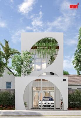 ELIP HOUSE- mặt tiền 5m phong cách ấn tượng, độc đáo