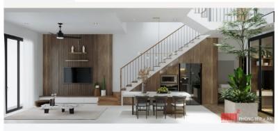 ĐẶNG HIỆT HOUSE mặt tiền và không gian trong nhà độc đáo.