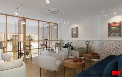 Cải tạo quán cà phê tại Kiên Giang- mặt tiền 6m - EN